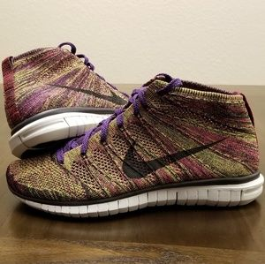 Nike Flyknit Chukka Grand Purple Sz 10